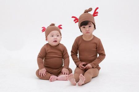 ★크리스마스실내복상하세트(루돌프모자별도판매)★